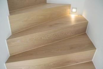 Bild von Parkett-Gruhle Treppenstufen mit Parkett belegt